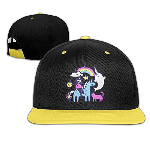 Unicorns Everywhere Kids Boy's & Girl's Outdoor Hip Hop Sports Cotton Sanpback Cap Hat Adjustable - Hatchet Face Costume