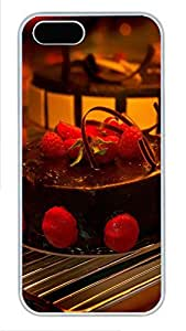 iPhone 5 5S Case Delicious Chocolate Strawberry Cake PC Custom iPhone 5 5S Case Cover White by icecream design