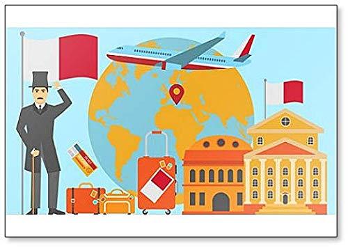 - Welcome to Malta Postcard. Travel Illustration Fridge Magnet