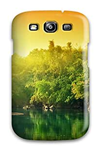 Areebah Nadwah Dagher's Shop Case Cover Galaxy S3 Protective Case Green River With Sunrise 6334717K30833619