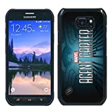 BEIWU Generic S6 Active Protective Case,MarvelS Agent Carter Carrying Shell Case Cover for Samsung Galaxy S6 Active(Black)