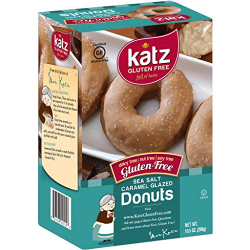 Katz Gluten Free Sea Salt Caramel Donuts | Dairy, Nut, Soy and Gluten Free | Kosher (1 Pack of 6 Donuts, 10.5 Ounce)