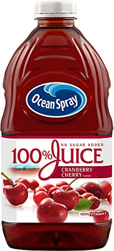 - Ocean Spray 100% Juice Cranberry Cherry, 60 Ounce Bottles (Pack of 8)