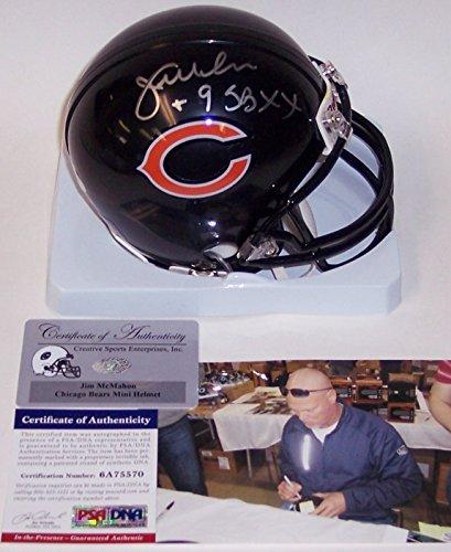Bears Signed Hand (Jim McMahon Autographed Hand Signed Bears Mini Helmet - PSA/DNA)