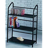 Book Shelves 3 Tier Metal Book Shelves - Black
