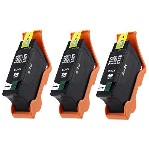 YATUNINK 3Pack Compatible Dell 21 Black Ink Cartridge For Dell All-In-One printers P513w P713w V313 V313w V515w V715w