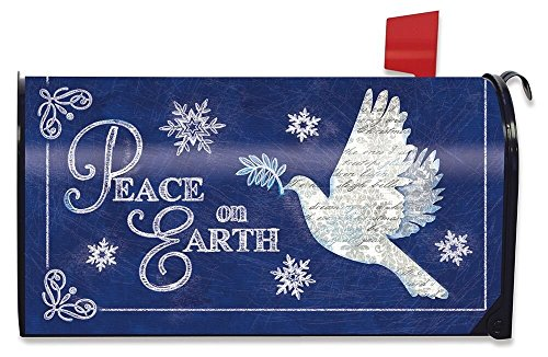 Briarwood Lane Peace On Earth Christmas Magnetic Mailbox Cover Dove Religious Holiday Standard