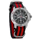 Vostok Komandirskie Submarine Captain Mechanical Mens Military Wrist Watch #431831 (Black+red)