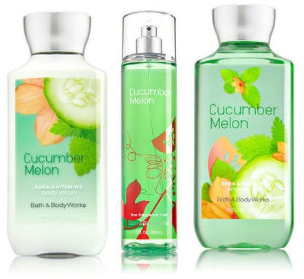 Splash Cucumber Body Melon - Bath & Body Works Cucumber Melon Gift Set, Body Lotion 8 Fl Oz, Shower Gel 10 Fl Oz, & Find Fragrance Mist 8 Fl Oz