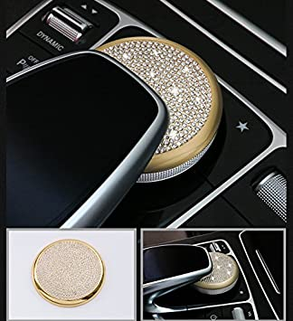 Ice Out Crystal Multimedia Mouse Button Center Adjust Trim Cover Mercedes Benz