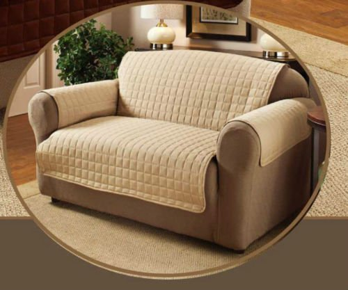 Beige Two Seater Water Repellent Furniture Protector for Sofa/Settee