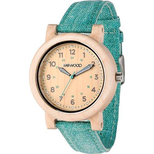 WeWood Dehna Maple Wood Watch - Beige/Cyan