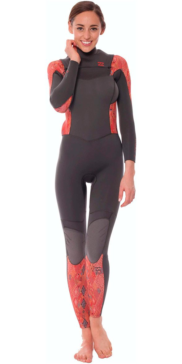 2016 Billabong Ladies Synergy 3/2mm Chest Zip Wetsuit in GUATEMALA