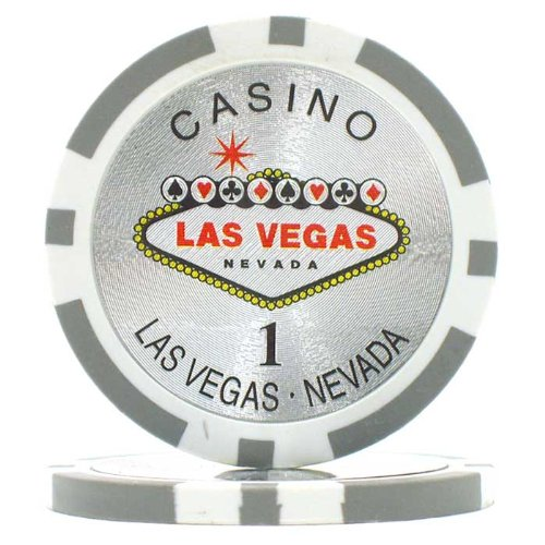 Trademark Poker Clay Laser Las Vegas 100 Poker Chips (1-Piece), 15gm (Poker Chip Labels)
