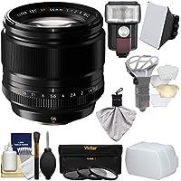Fujifilm 56mm f/1.2 XF R Lens with Flash + Soft Box + 2 Diffusers + 3 Filters Kit for X-A2, X-E2, X-E2s, X-M1, X-T1, X-T10, X-Pro2 Cameras