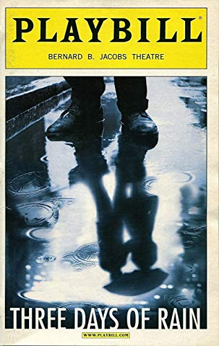 PLAYBILL: Three Days of Rain (2006) Julia Roberts, Paul Rudd, Bradley Cooper