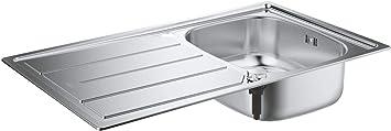 Oferta amazon: GROHE 31552SD0 - K200 Fregadero de acero inoxidable con escurridor