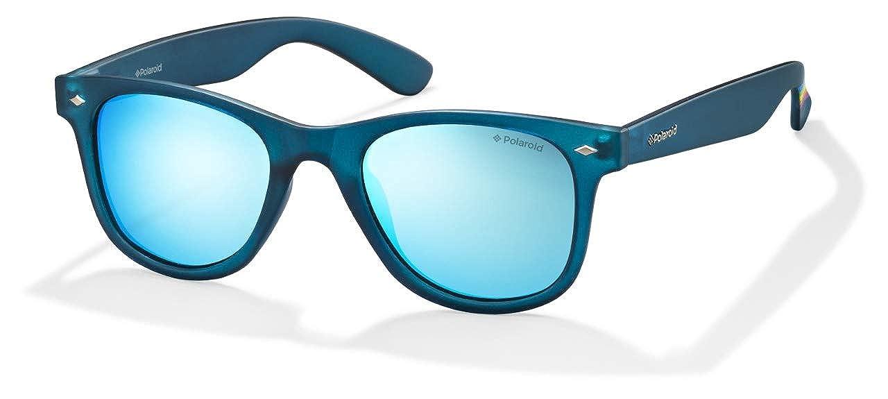 40ac288f86a Amazon.com  Polaroid Sunglasses Women s Pld6009nm Polarized Square  Sunglasses BLUETRANSPARENT 50 mm  Clothing