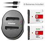 Kastar Battery (X2) & Dual USB Charger for Sony Cybershot DSC-HX5V, DSC-HX9V, DSC-W30, DSC-W35, DSC-W50, DSC-W55, DSC-W70, DSC-W80, DSC-W290, DSC-H10, H20, H50, H55, H70, H90 Battery+ More Cameras