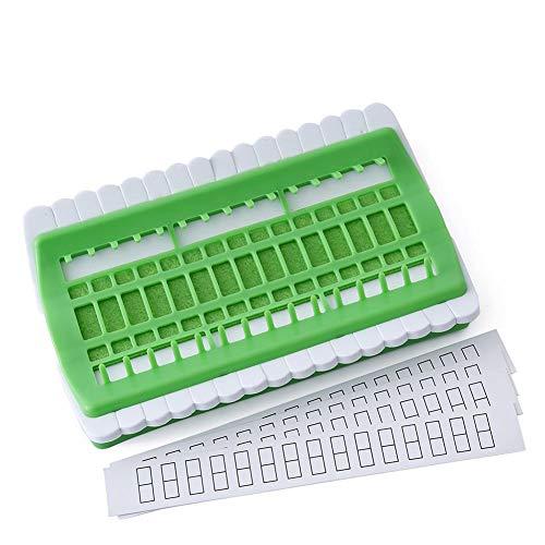 Fdit Cross Stitch Needles Holder Thread Organizer Needlework Holder Sewing Needle Pins Holder Craft Tools Accessory(Green)