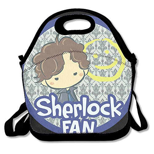 PPAP3 Customized Sherlock Fan Lunch Tote Bag With Adjustable Straps