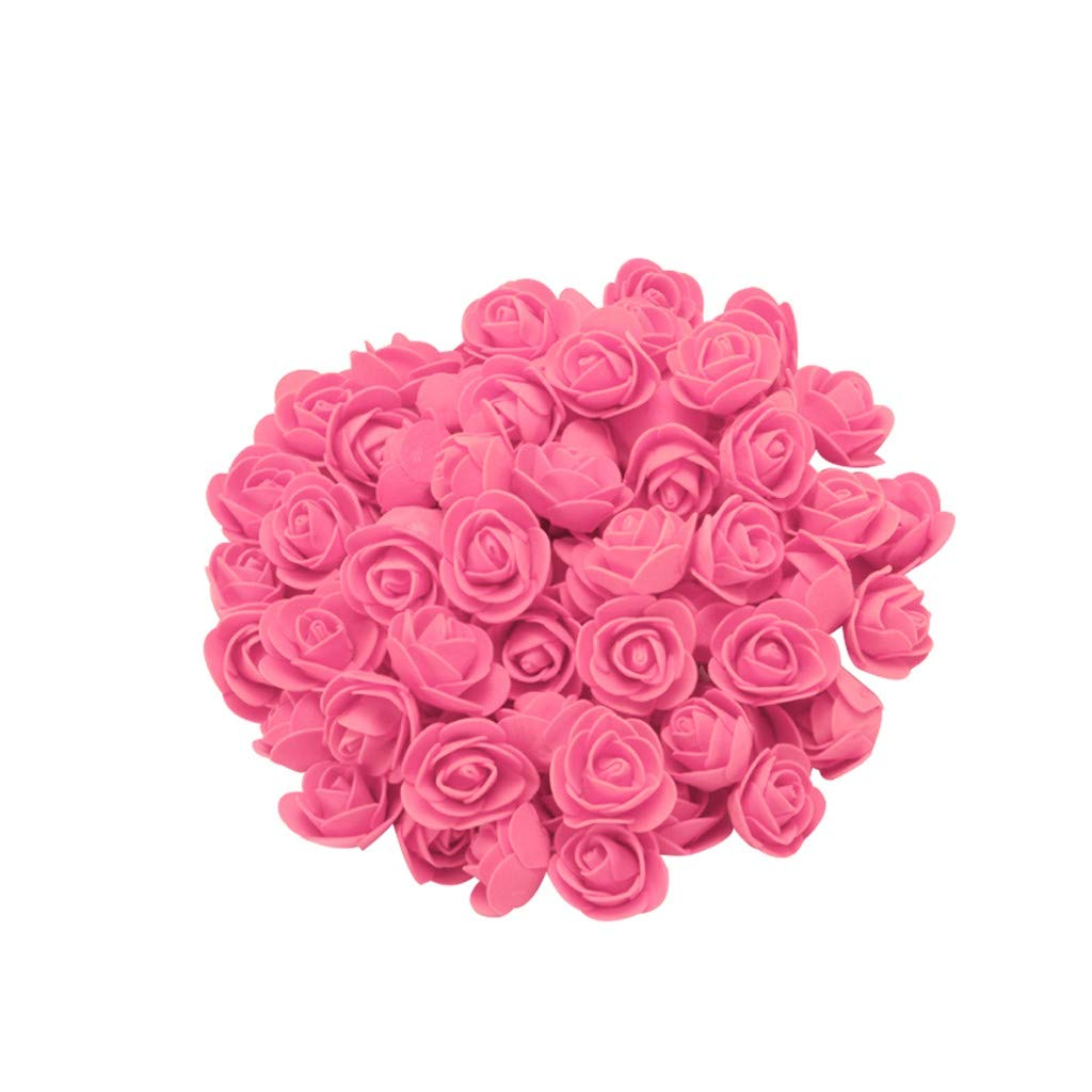Cyhulu New Fashion Creative 100Pcs Foam Rose Flower Heads Best Lover Gifts for Wedding Birthday Valentine Mother's Day Favors Decoration (I, One size)