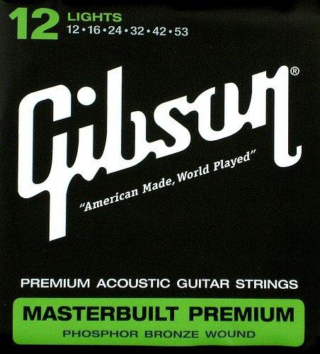 Gibson Masterbuilt Acoustic Guitar Strings .012-.053 12 Sets SAG-MB12 (Gibson Masterbuilt Premium Acoustic Guitar)