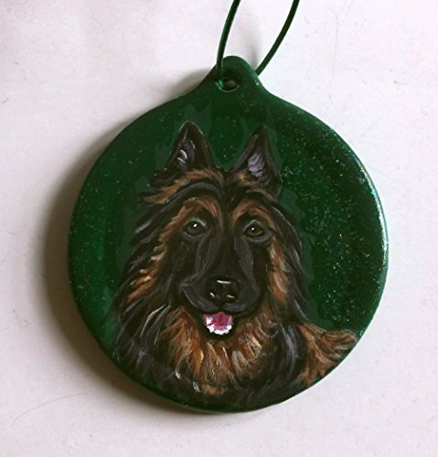 Belgian Tervuren Dog Gift Christmas Ornament Custom Hand ()