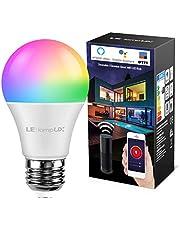 LE Lampadina Intelligente Wifi LED E27 9W Smart Lampadine Colorate Dimmerabile, RGB + Bianco(2700K-6500K), Compatibile con Alexa (Echo, Echo Dot) e Google Home, Controllo Remoto Nessun Hub Richiesto