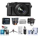 Panasonic Lumix DMC-LX100 Digital Camera Bundle, Black. Value Kit with Acc