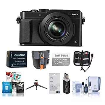 Amazon com : Panasonic Lumix DMC-LX100 Digital Camera Bundle, Black