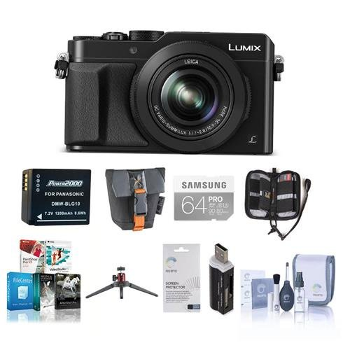 Panasonic Lumix DMC-LX100 Digital Camera Bundle, Black. Value Kit with Acc