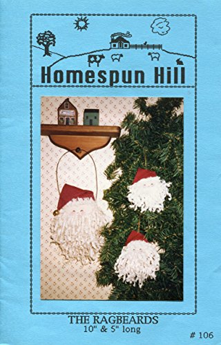 Santa Homespun - Homespun Hill Pattern 106 ~ The Ragbeards Santa Ornaments