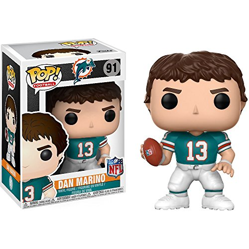 Funko Dan Marino POP! Football x NFL Legends Vinyl Figure + 1 Official NFL Trading Card Bundle (21760)