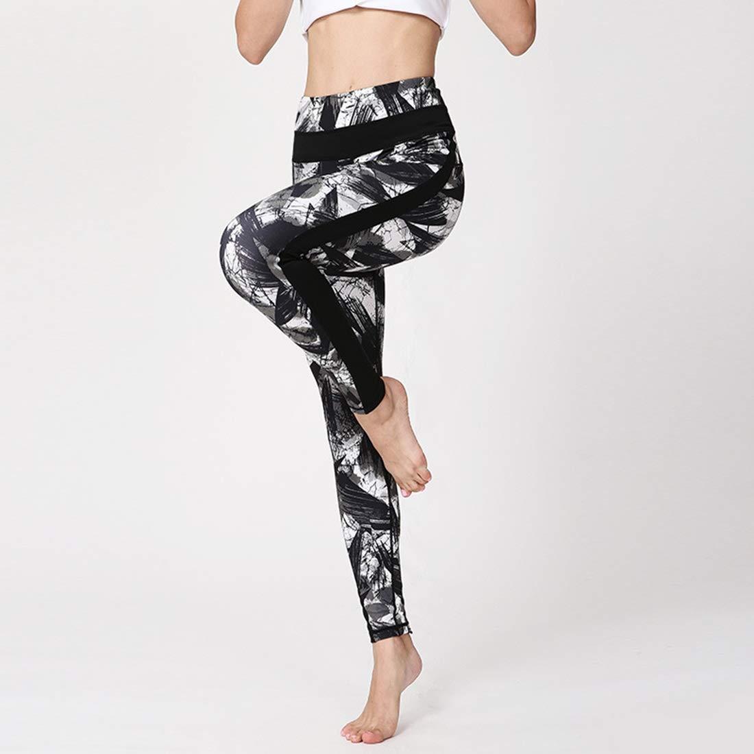 HONGHUIKE Pantalones de Yoga Pantalones de chándal Impresión ...
