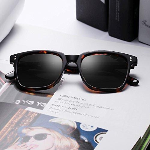 7158b4c424a Carfia Chic Retro Polarized Sunglasses for Women Men丨Designer Sunglasses  with Case丨100%