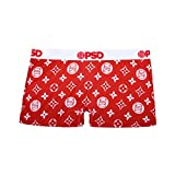 PSD Underwear Women's The Pattern Short, Red, Small