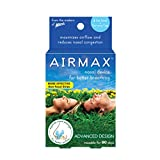 AIRMAX Nasal Dilator for Better Breathing - Natural, Comfortable, Breathing Aid Solution for Allergies, Sinus Congestion and Clogged Nose – Small - Blue