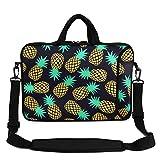 Violet Mist 13' 15' 15.6' Neoprene Laptop Sleeve Bag Waterproof Sleeve Case Adjustable Shoulder Strap External Pocket(11' 12' 13'-13.3',Black Pineapple 2)