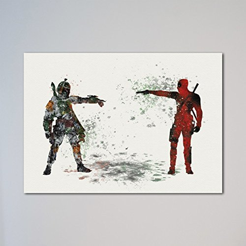Star Wars Deadpool vs Boba Fett Print