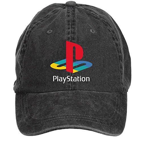 Price comparison product image 55kaideyunshe Unisex PlayStation Logo Baseball Caps One Size ColorName Velcro Adjustable