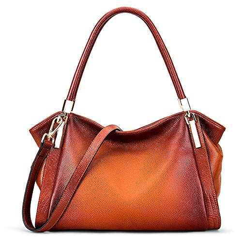 Genuine Leather Handbags for Women, Vintage Shoulder Bags Strap Replacement, DAIZU Cowhide Large Purse(brown)