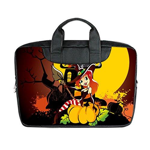 JIUDUIDODO Custom Cool Halloween Evil Jack with Bat Nylon Waterproof Bag Computer Bag Handbag for Laptop 17