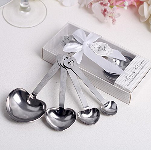 Simply Elegant Love Beyond Measure Heart-Shaped Measuring Spoons For Wedding Favor and baby shower, Set of 72 by cute rabbit