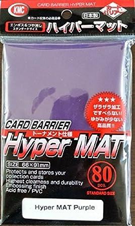 KMC Hyper Mat Púrpura Fundas para Cartas Coleccionables ...