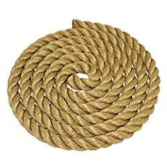 """If you like the look of a natural-fiber manila rope but need something more when it comes to performance-and something less when it comes to price-look no further than SGT KNOTS Twisted Polypropylene """"UnManila"""" Rope. Stronger yet lighter than..."""