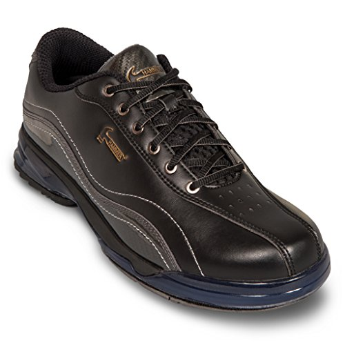 Hammer Mens Force Performance Bowling Shoes Black/Carbon- Right Hand Wide EVatH