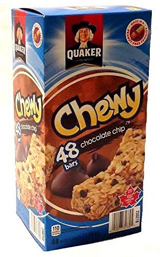 Chip Chewy Granola Bars (Quaker Chewy Granola Bars, Chocolate Chip, 26 Gram, 48-Pack, Peanut-Free)