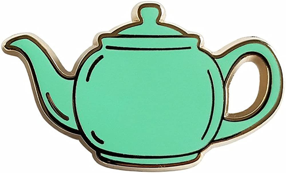 Pinsanity The Office Green Teapot Enamel Lapel pin