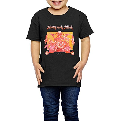 UrsulaA Child's Black Sabbath Sabbath Bloody Sabbath Cute T Shirt for Girls/Boys T Shirts Black 3 Toddler